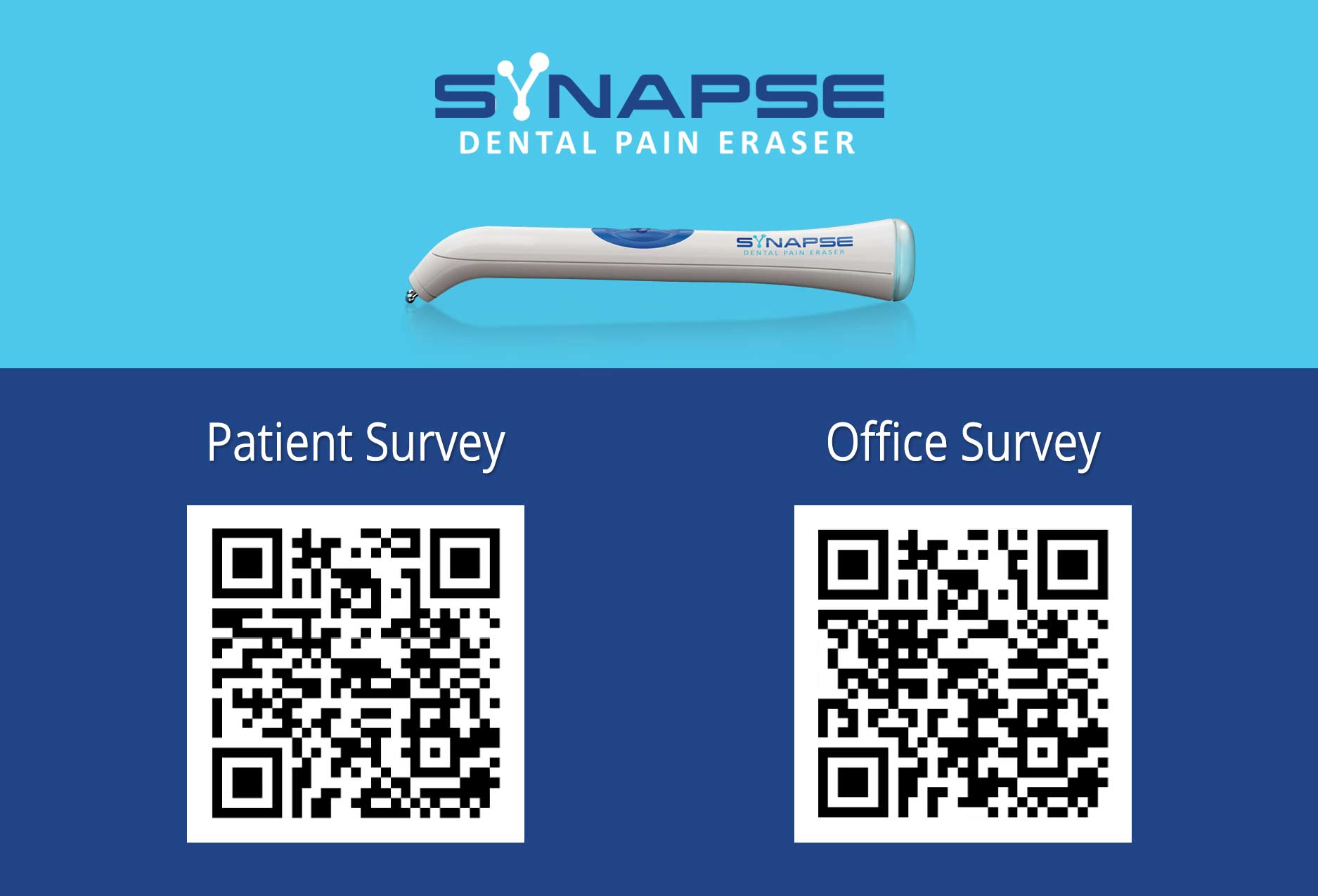 Dental Pain Eraser Survey postcard